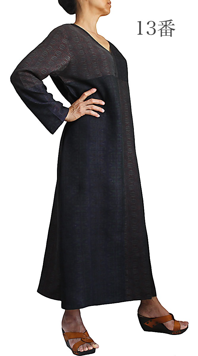 オールドタイシルクカミーズドレス