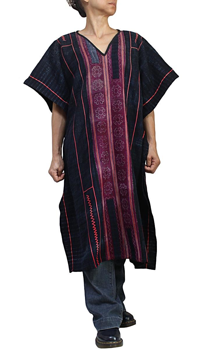 モン古布貫頭衣ドレス(DHM-004-05)