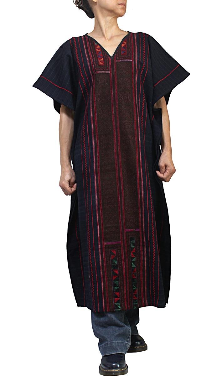 モン古布貫頭衣ドレス(DHM-004-02)