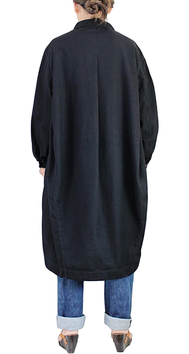 ジョムトン手織り綿ボックスチュニック(黒)