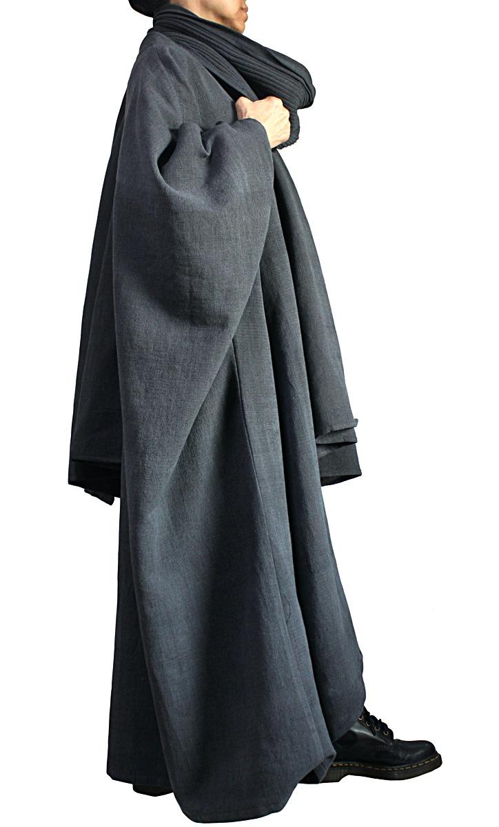 ジョムトン手織り綿のコクーンカフタンドレスストール付き (DNN-103-01)