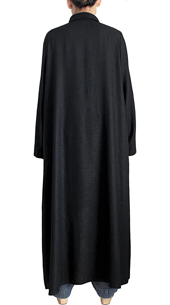 柔らかヘンプのロングドレスコート