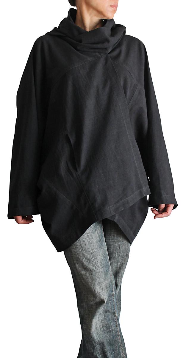 ジョムトン手織り綿サバイ付きムササビコート(黒)