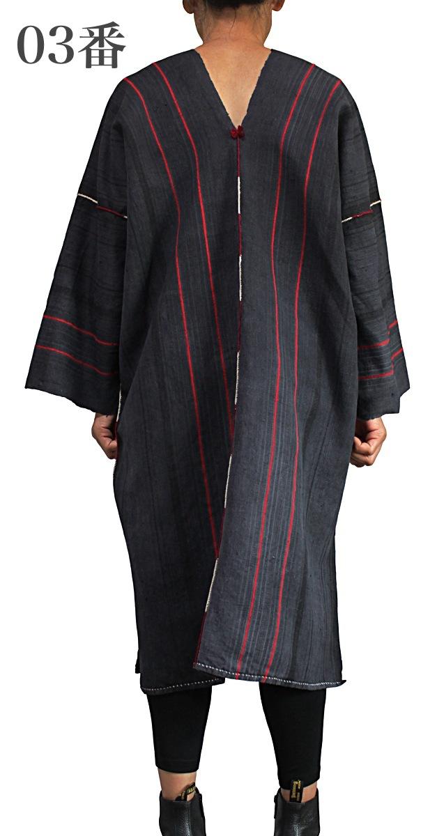 ラワの古布ヘンプ貫頭衣ドレス