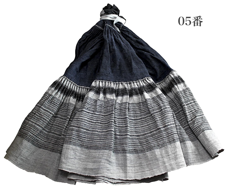 モンのヘンプ古布スカート