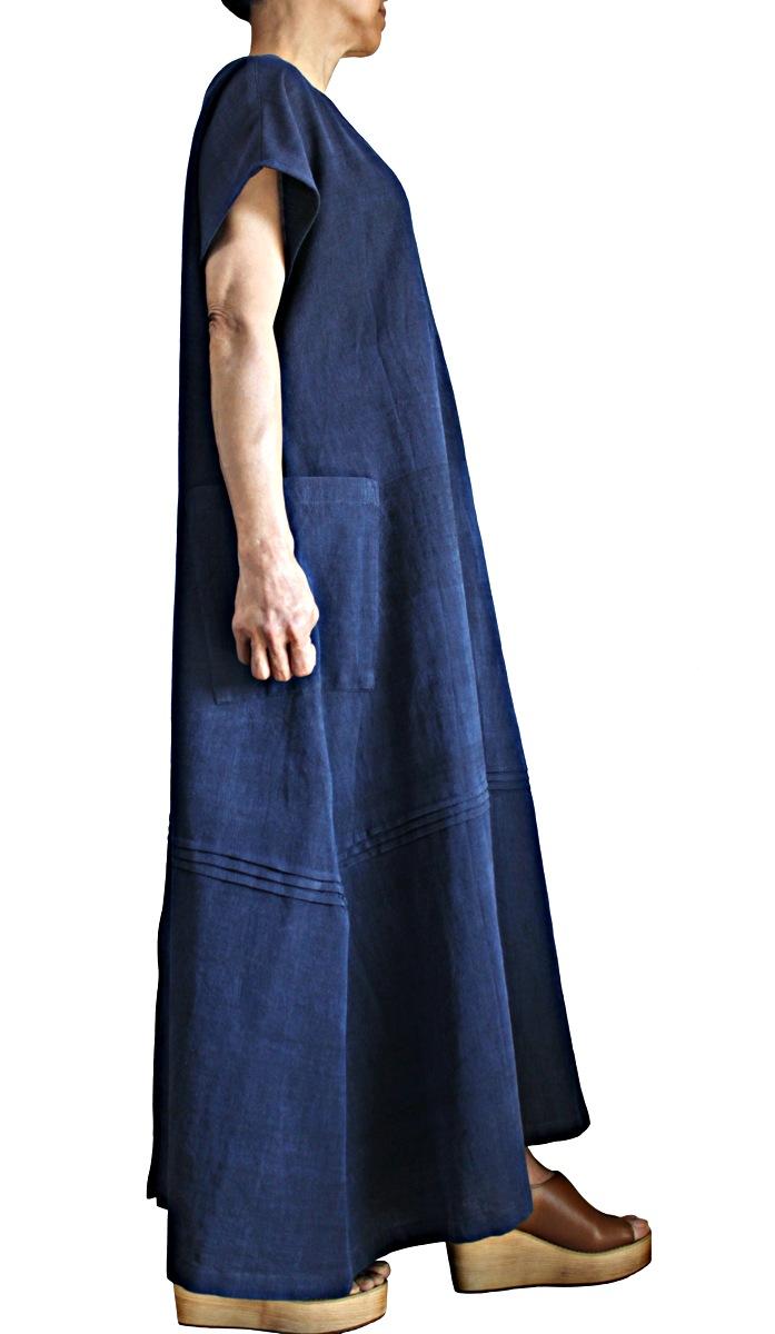 ジョムトン手織り綿寛ぎのドレス(DFS-063-03)