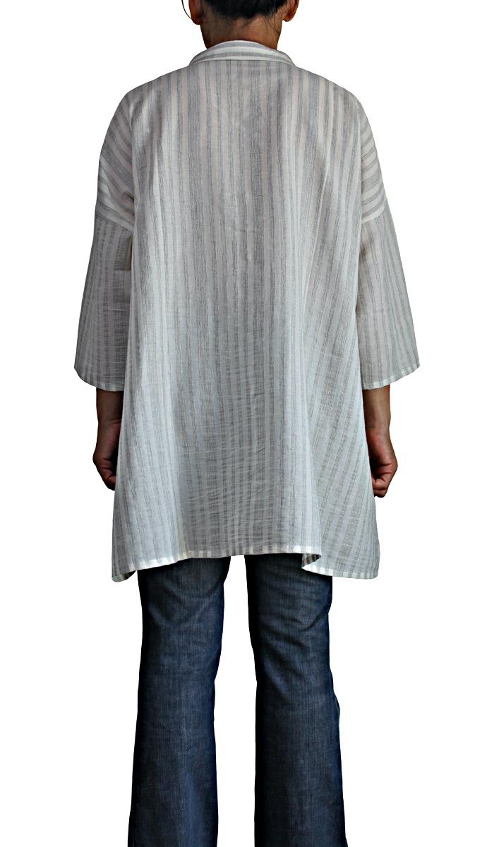 柔らかコットン七分袖シャツ (BFS-180)