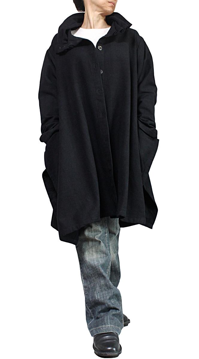 ジョムトン手織り綿ハイネックコート(黒)