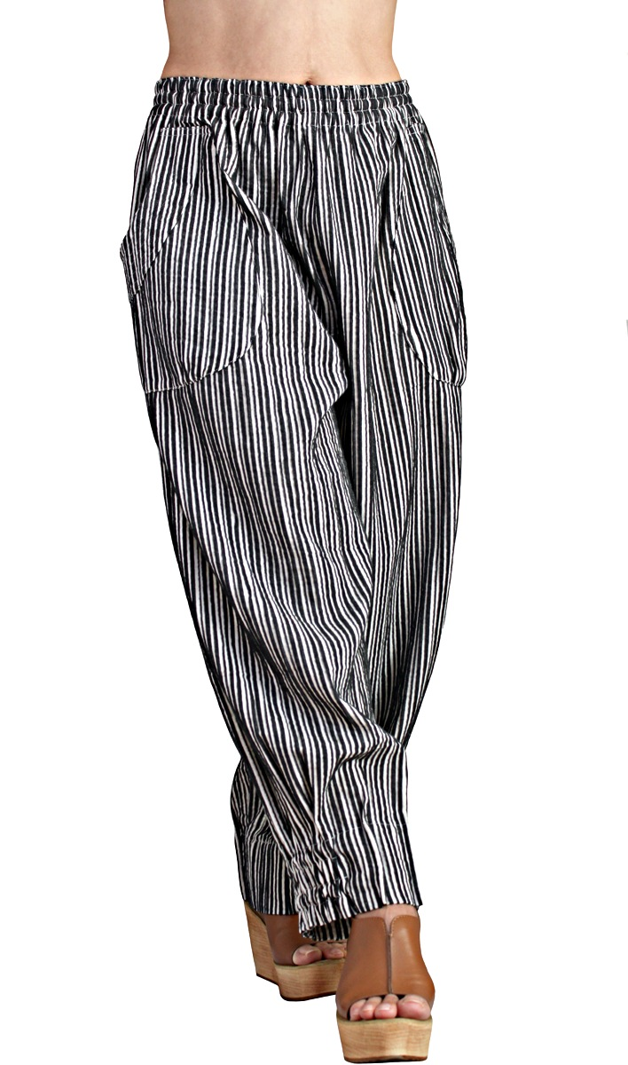 柔らかコットンモノトーンタックワイドパンツ(PFS-062-01)