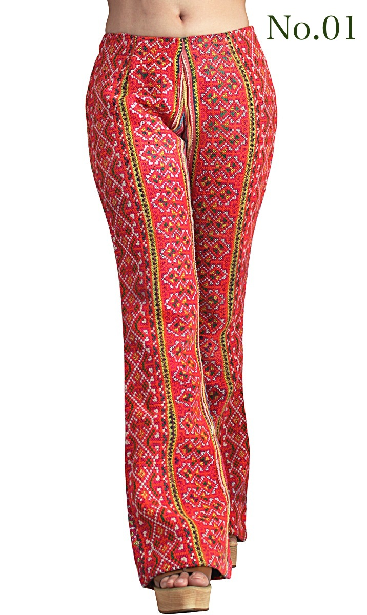 モン刺繍古布パンツ(PHM-008)