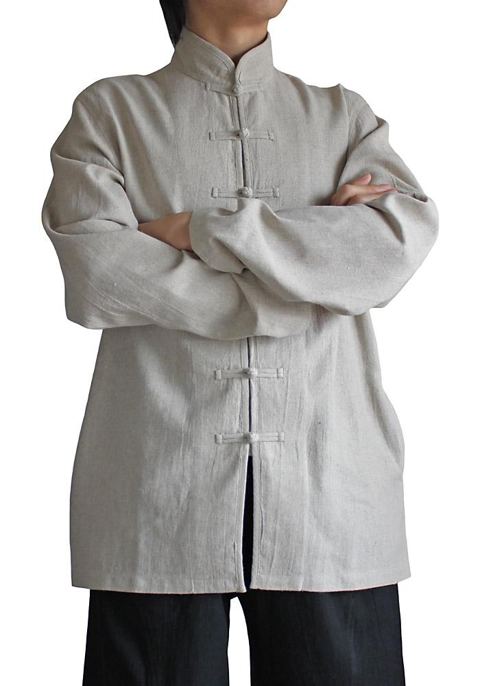 ヘンプのメンズチャイナジャケット