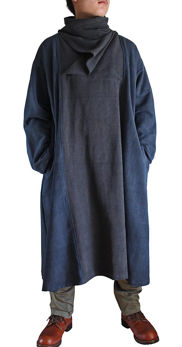 ジョムトン手織り綿配色メンズワンピース(DFS-044)