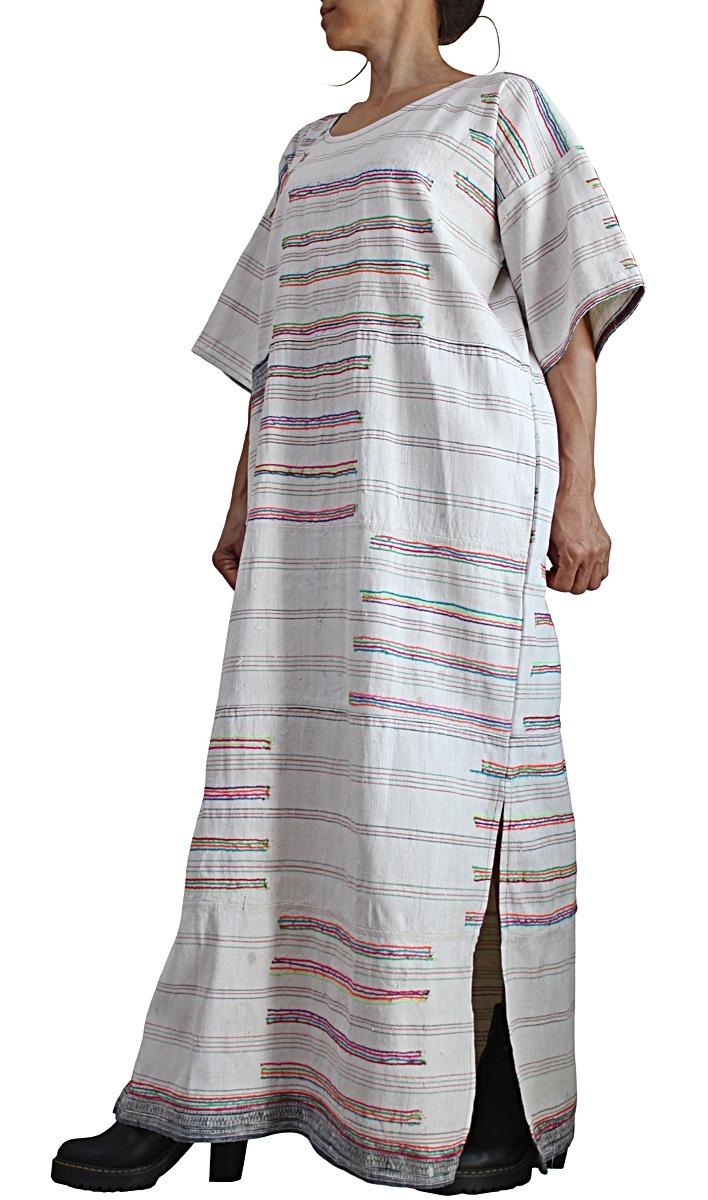 モンの古布ヘンプ生成ドレス