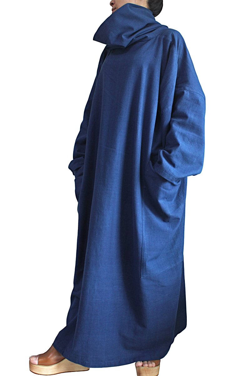 ジョムトン手織り綿オフタートルルーズドレス(DFS-058)