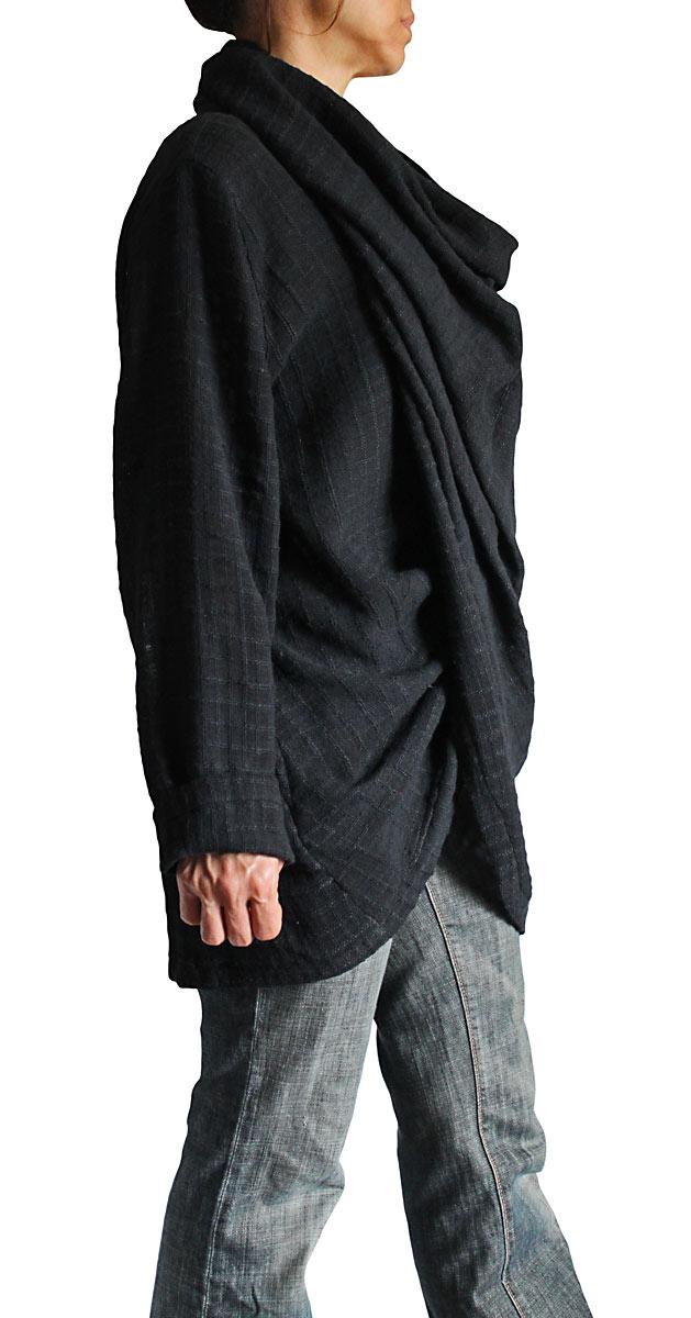 ターポン手織り綿のねじれデザイン羽織プルオーバー(JFS-061)
