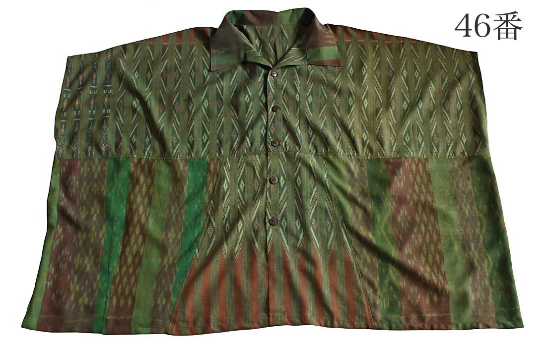 オールドタイシルク貫頭衣型シャツ