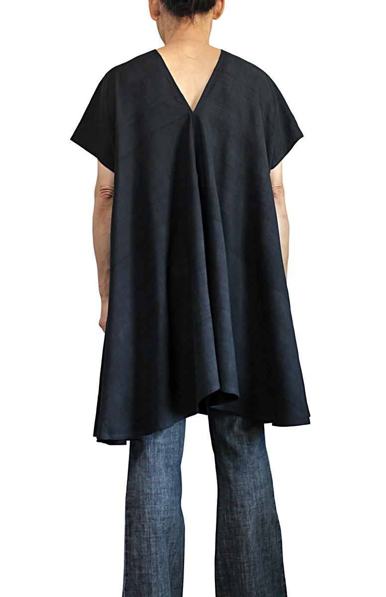オールドタイシルク貫頭衣型チュニック(BOS-017)