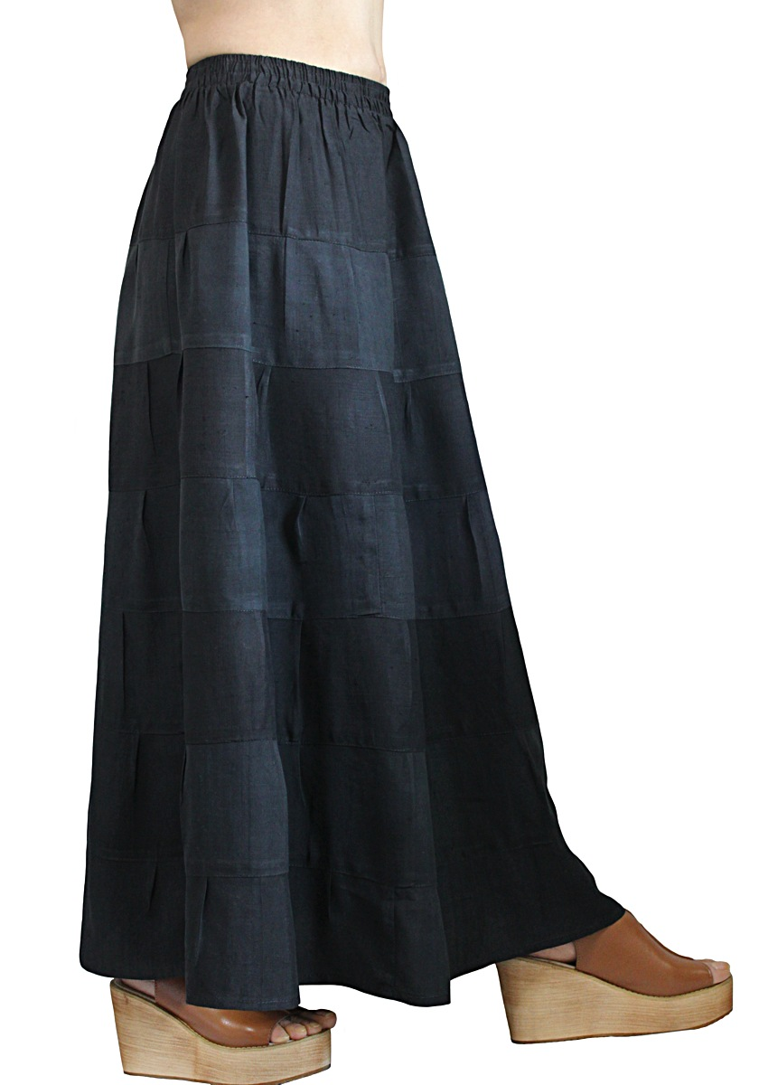 オールドタイシルク7段スカート