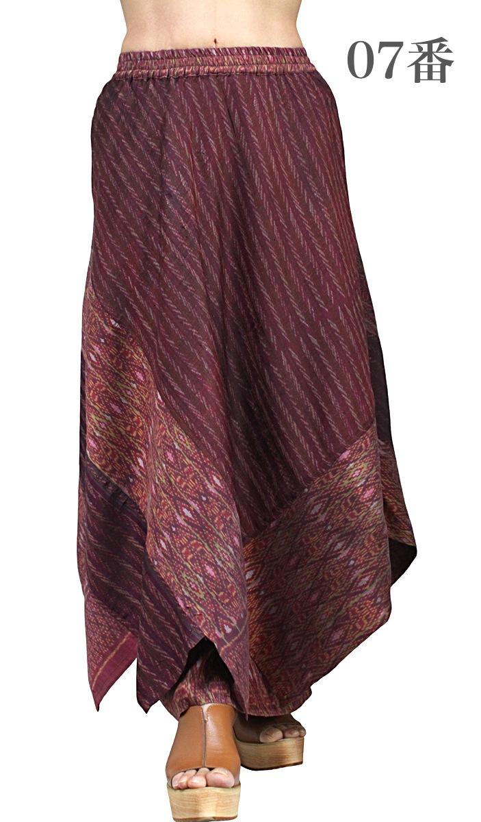オールドタイシルクデザインペチコートスカート