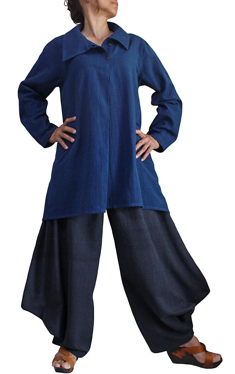 ジョムトン手織り綿の菩薩パンツ(墨黒)