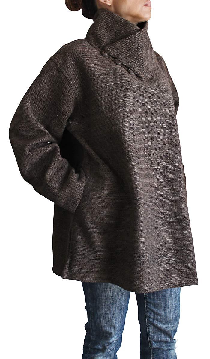 ざっくりジョムトン手織り綿ラップネックプルオーバー(BFS-086)