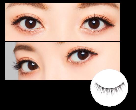 \今だけ!つけまのりプレゼント/【ダイヤモンドラッシュ公式】DiamondLash 1st Series 【プリティー eye】束感のあるまつげで可愛らしい瞳に