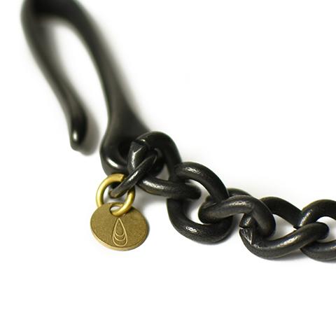 Button Works Black Line Key Chain