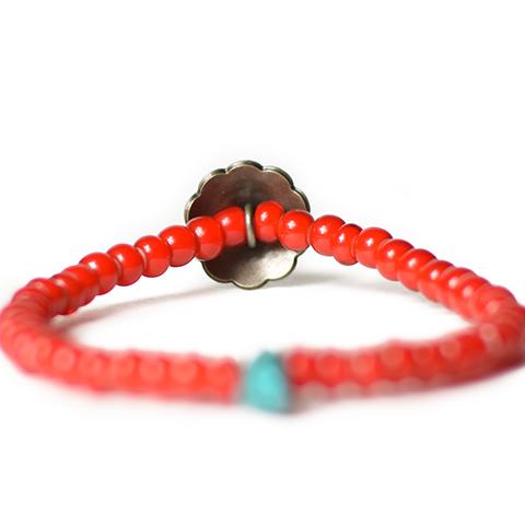 Button Works White Hearts Concho Bracelet