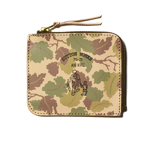 Button Works Camouflage Wallet