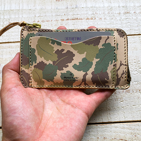 Button Works Camouflage Card Case