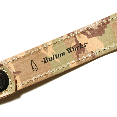 Button Works Camouflage Key Fob