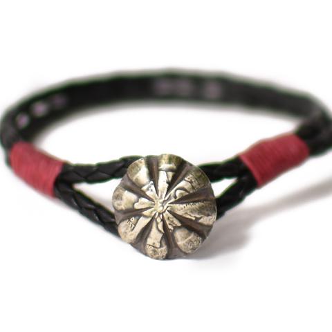 Button Works Mercury Dime Leather Bracelet