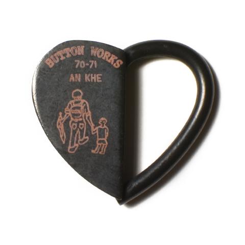 Button Works Black Line Vintage Key Ring Oval