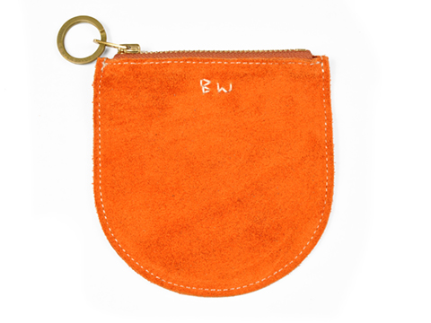 Button Works Suede Small Pouch