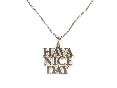 SD Made in USA H. N. D. Necklace Silver