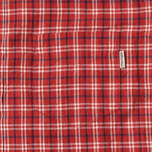 SD Seersucker Check Button-Down Shirt