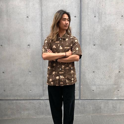 SD Palm Tree Shirt Fabric Designed By Jeff Canham
