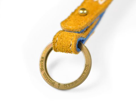 Button Works Suede Key Holder