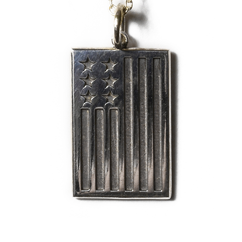SD Made in USA Necklace USA Flag