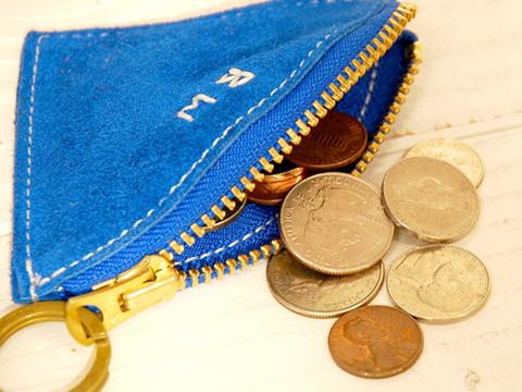 Button Works Suede Coin Case
