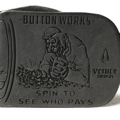 Button Works Black Line You Pay Money Clip