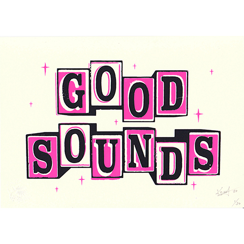 "Komy Silk Screen Art ""Good Sounds"" Pre-Order"