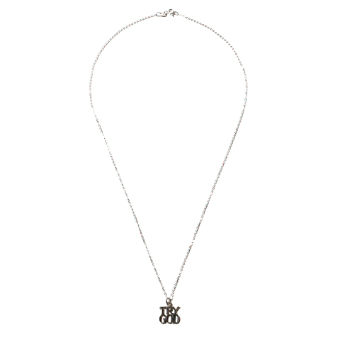 """Tiffany """"Try God""""No.1 Charm with Chain"""