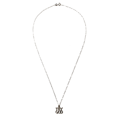"""Tiffany """"Try God""""No.2 Charm with Chain"""