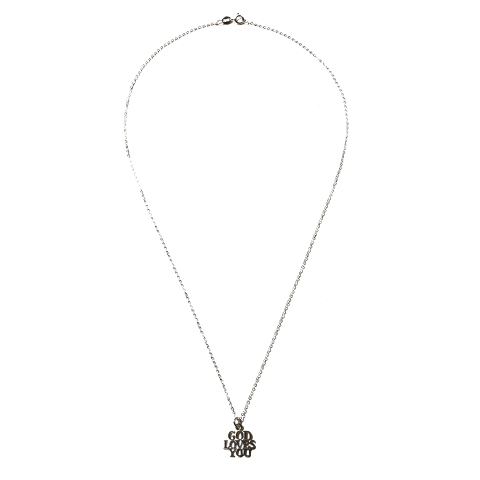 """Tiffany """"God Loves You"""" Charm with Chain"""
