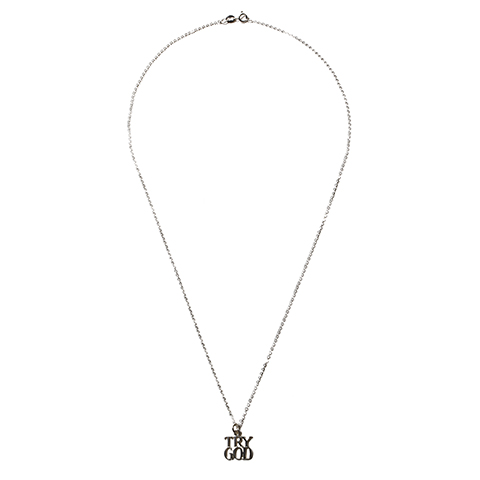 """Tiffany """"Try God""""No.3 Charm with Chain"""
