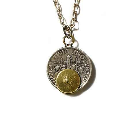 Button Works Roosevelt Dime Coin Necklace