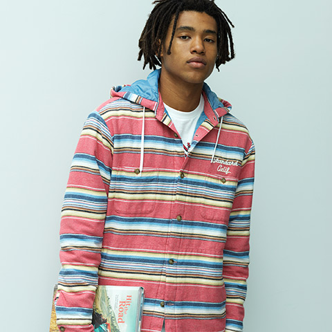 SD Southwest Flannel Quilted Hood Jacket