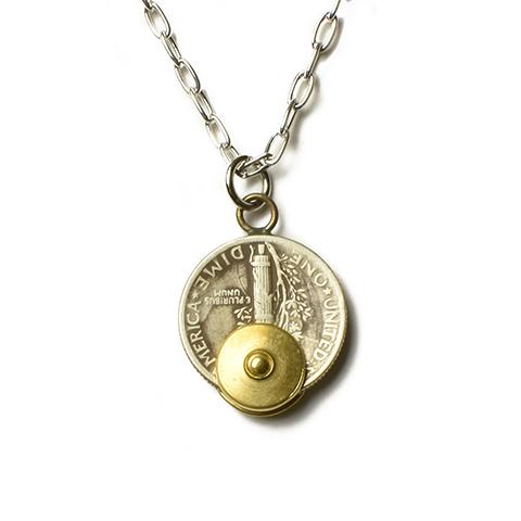 Button Works Mercury Dime Coin Necklace