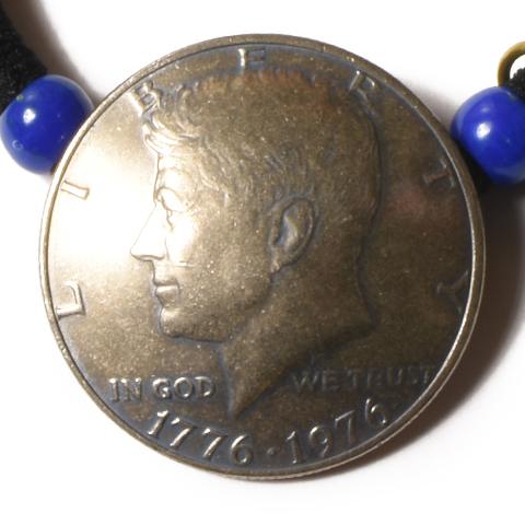 "Button Works Half Dollar Hair Gum ""Kennedy"""